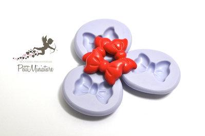 Stampo flessibile silicone fiocco 1,8cm Kawaii dolci stampo Fimo gioielli Charms-Stampo Gioielli-Stampo dollhouse ST203