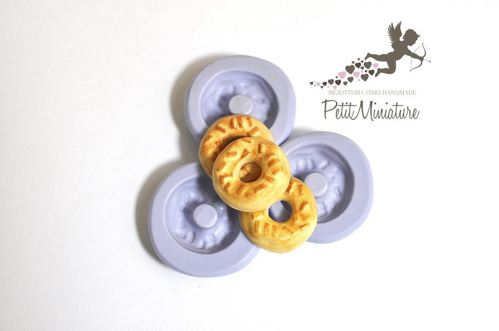 Stampo 3D Silicone flessibile 2cm Ciambella Americana in miniatura Kawaii dolci stampo Fimo gioielli Charms ST204