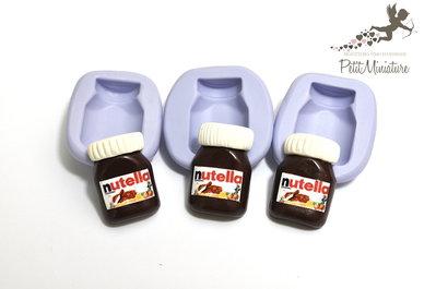 Stampo silicone flessibile-stampo barattolo di nutella 25mm gioielli fimo kawaii ST207