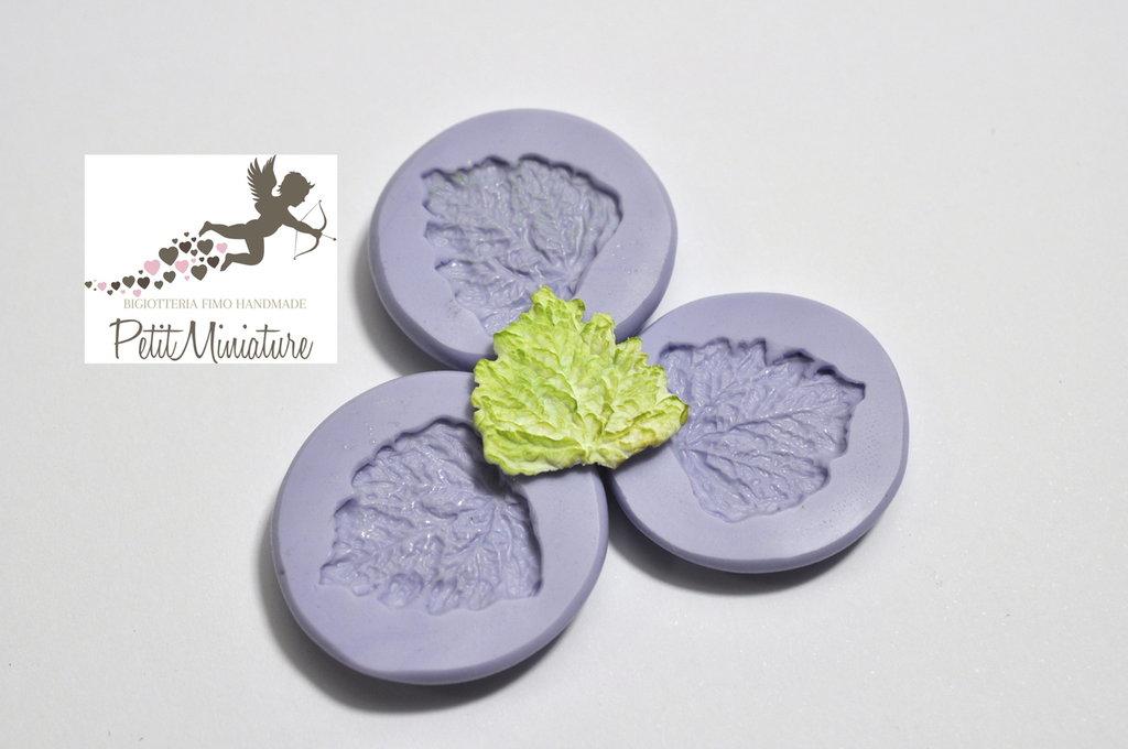 Stampo silicone flessibile foglia insalata 20mm dollhouse miniature gioielli fimo kawaii ST210