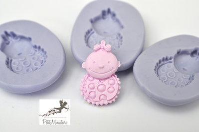 Stampo silicone flessibile Bimbo Baby 25mm gioielli fimo kawaii ST219