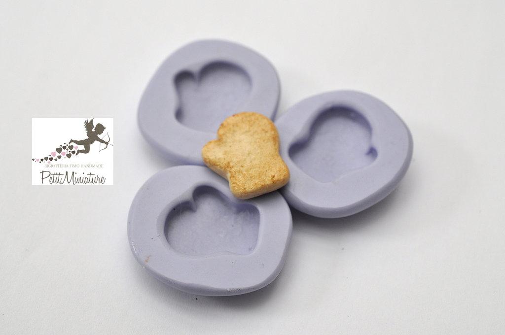 Kit 2 Stampi silicone flessibile Guanto di Natale 17mm gioielli fimo kawaii ST223