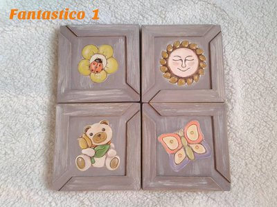Quattro quadretti in legno