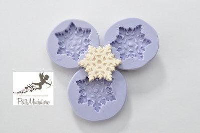 Stampo silicone flessibile biscotto stella di Natale 25mm gioielli fimo kawaii ST229