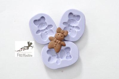 Stampo fimo gingerbread biscotto- 30mm Orecchini fimo gioielli handmade-Natale,bianco natale- Gioielli Fimo- Kawaii ST228