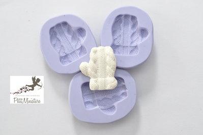 Stampo silicone flessibile Guanto di Natale 30mm gioielli fimo kawaii ST232