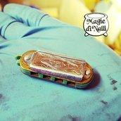 mini armonica, portachiavi gadget vintage Rem