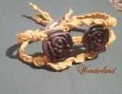 braccialetto macramè  con rose