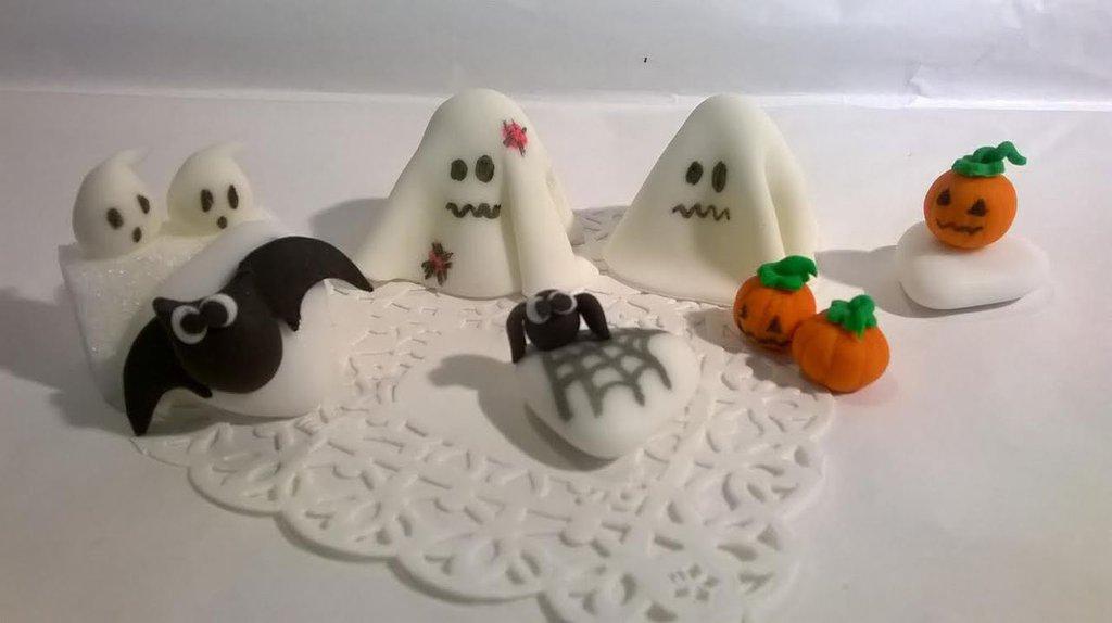 confetti, segnaposto halloween, ragno, pipistrello, zucca, spiritello,