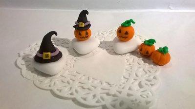 segnaposto halloween, confetti decorati,fantasma, zucca con cappello da strega, cappello da strega