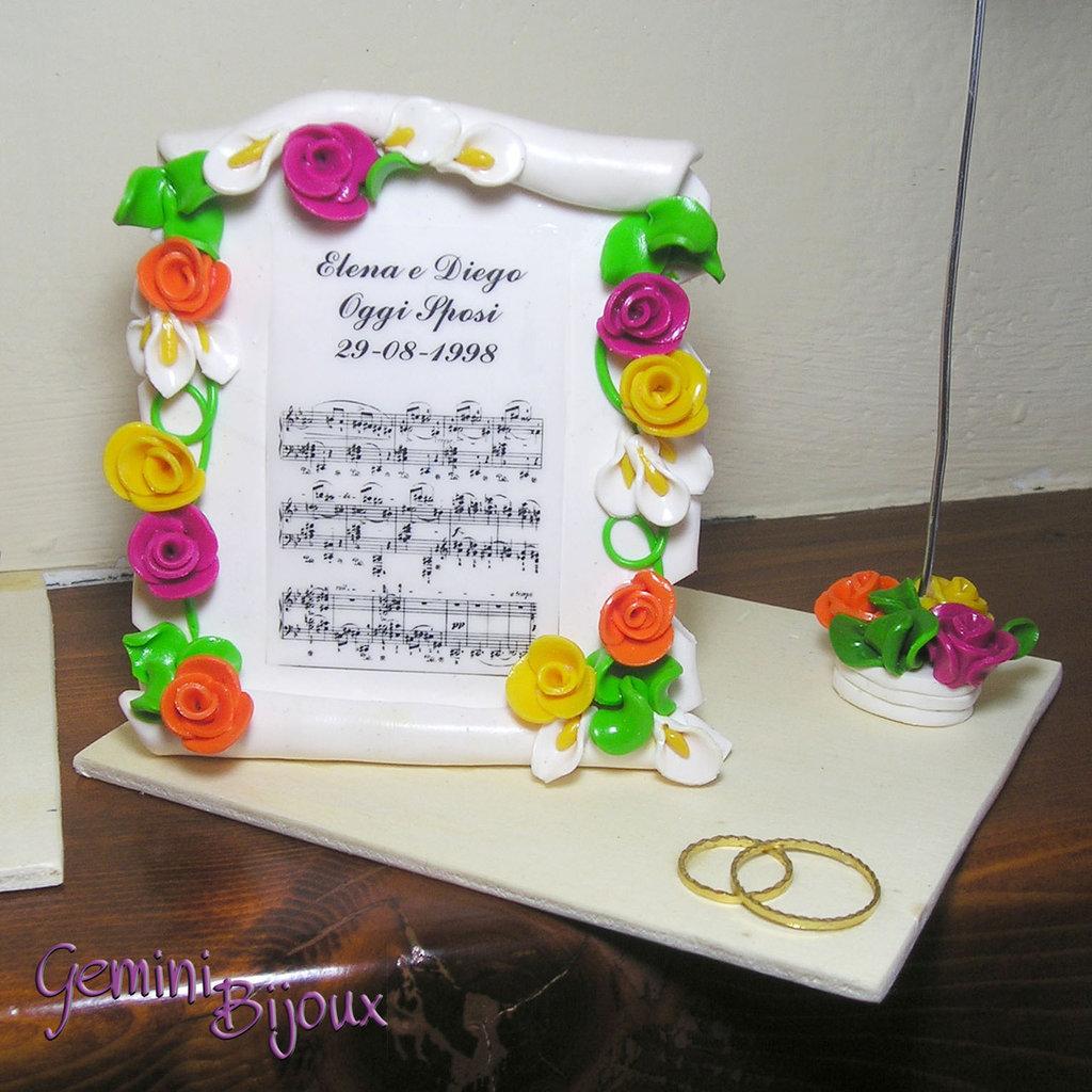 Pergamena in fimo personalizzabile per matrimoni