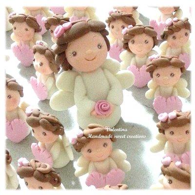 Bomboniera Nascita Battesimo angelo con rosa