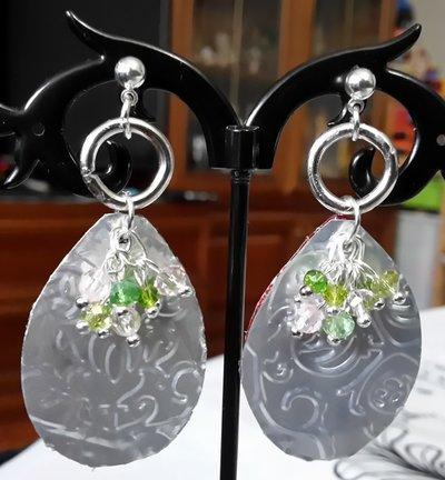 Orecchini Ovale in lattine di alluminio