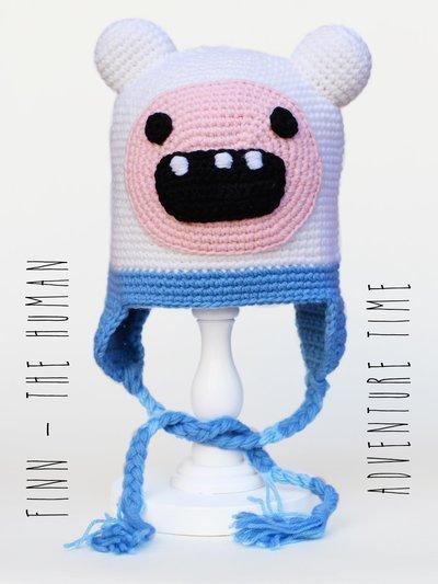 """Berretto - cuffia uncinetto amigurumi Adventure Time """"Finn the human"""""""