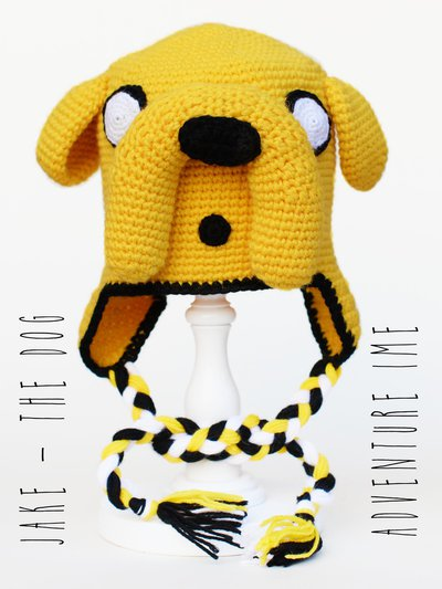 "Berretto - cuffia uncinetto amigurumi Adventure Time ""Jake the dog"""