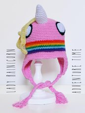 "Berretto - cuffia uncinetto amigurumi Lady Rainicorn da ""Adventure Time"""