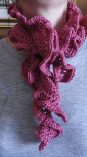 Sciarpa in lana color amarena