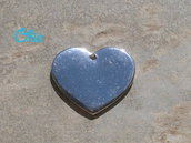 1 charm cuore piatto 25x22mm