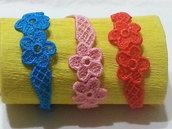braccialetto con fiori in pizzo