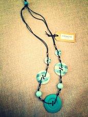Collana artigianale color Tiffany