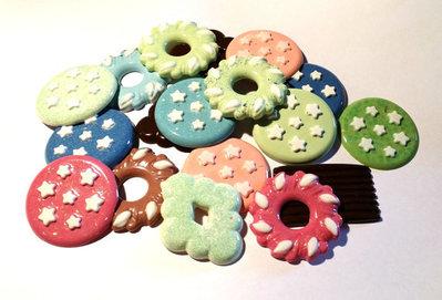 20 Cabochon a forma di biscotto