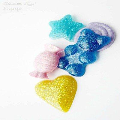 Lotto di 20 cabochon a forma di caramelle