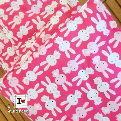 Trapuntino rosa con coniglietti