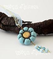 Collana/Necklace Flower Azzurro - T02