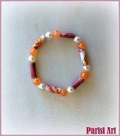 Bracciale elastico fatto a mano doppia perla