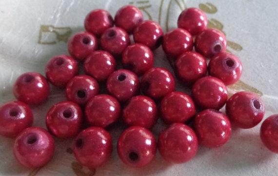 32 Perline MAGICHE in acrilico color FRAGOLA
