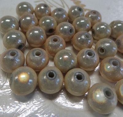 30 Perline MAGICHE in acrilico color CHAMPAGNE