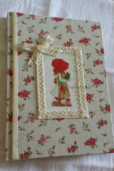 Quaderno natalizio con stampa vintage