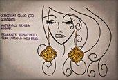 *Orecchini* pendenti color oro, *NICHEL-FREE*