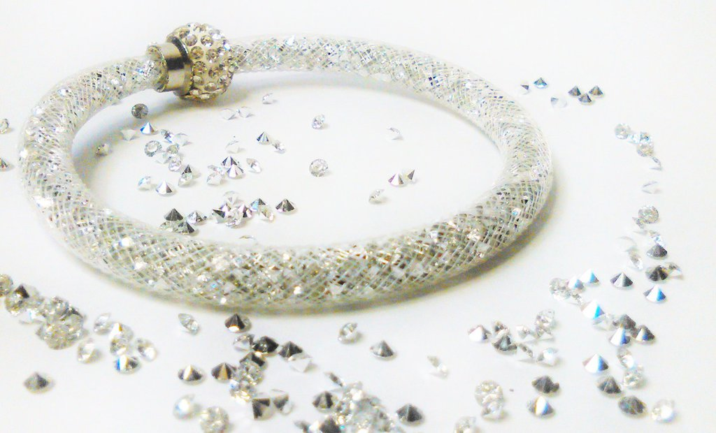 bracciale stardust bianco-argenteo