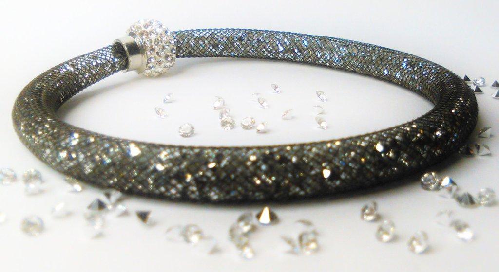 bracciale stardust nero-argenteo