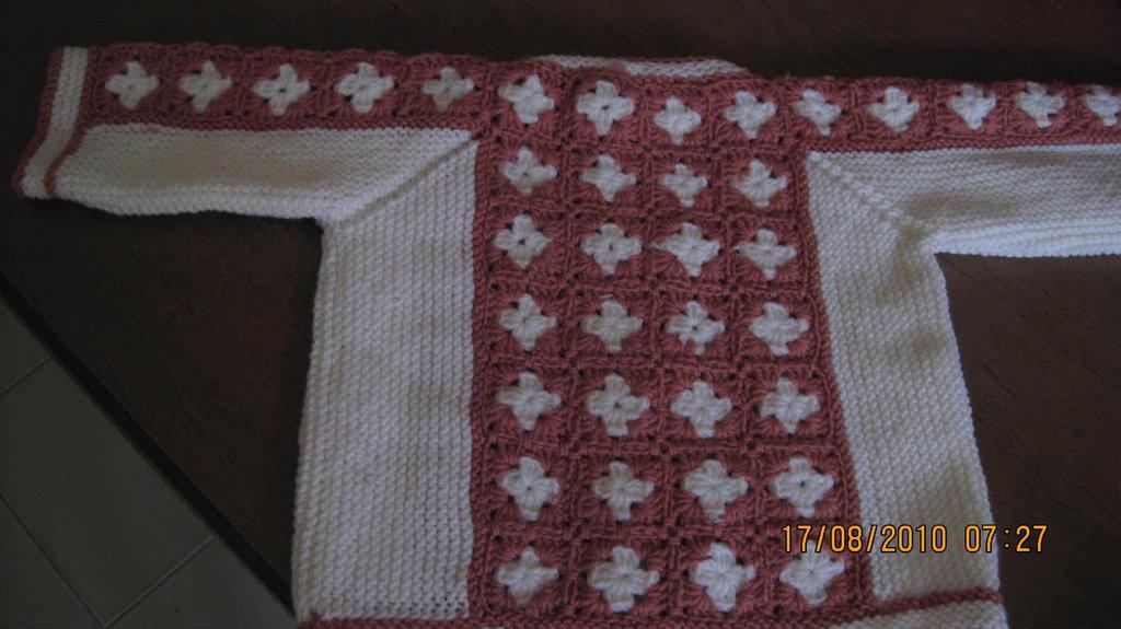 giacchino rosa e bianco