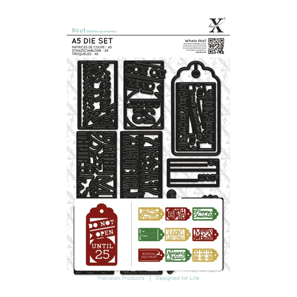 Set fustelleA5  Xcut - Christmas Gift Tags