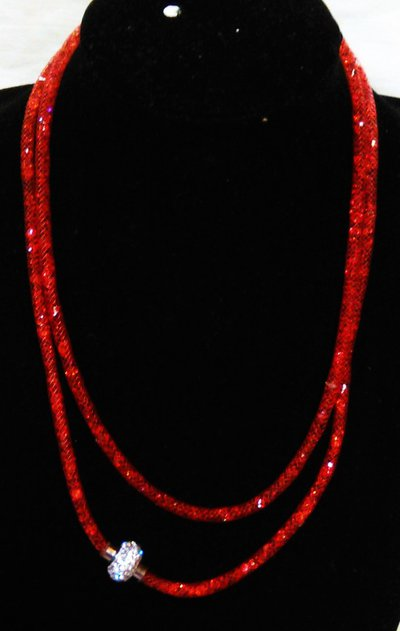 collana-bracciale stardust rossa