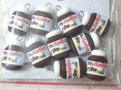 Lotto 10 ciondoli in fimo barattolo nutella charms handmade