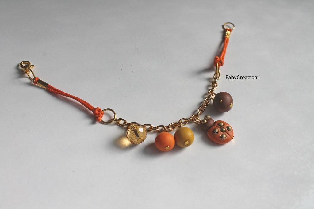 Bracciale Coccinella e Perle