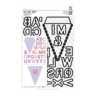 Set fustelle A4 Xcut - Alphabet Bunting