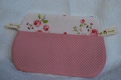 pochette rosa due colori