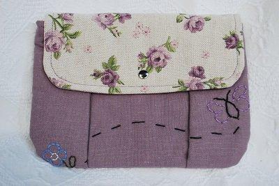 bustina in lino lavanda