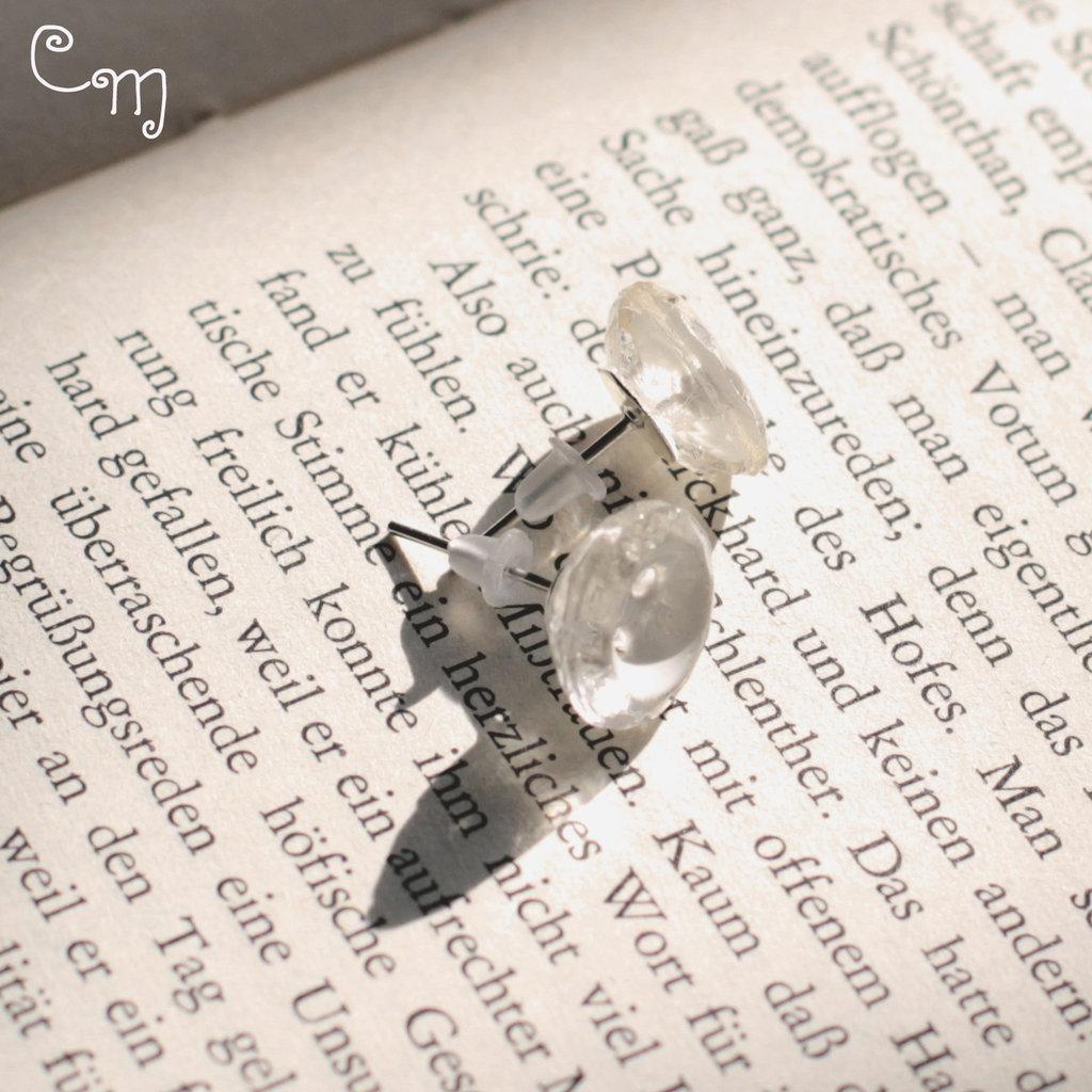 Orecchini con bottoni vintage in cristallo - O.25.2015