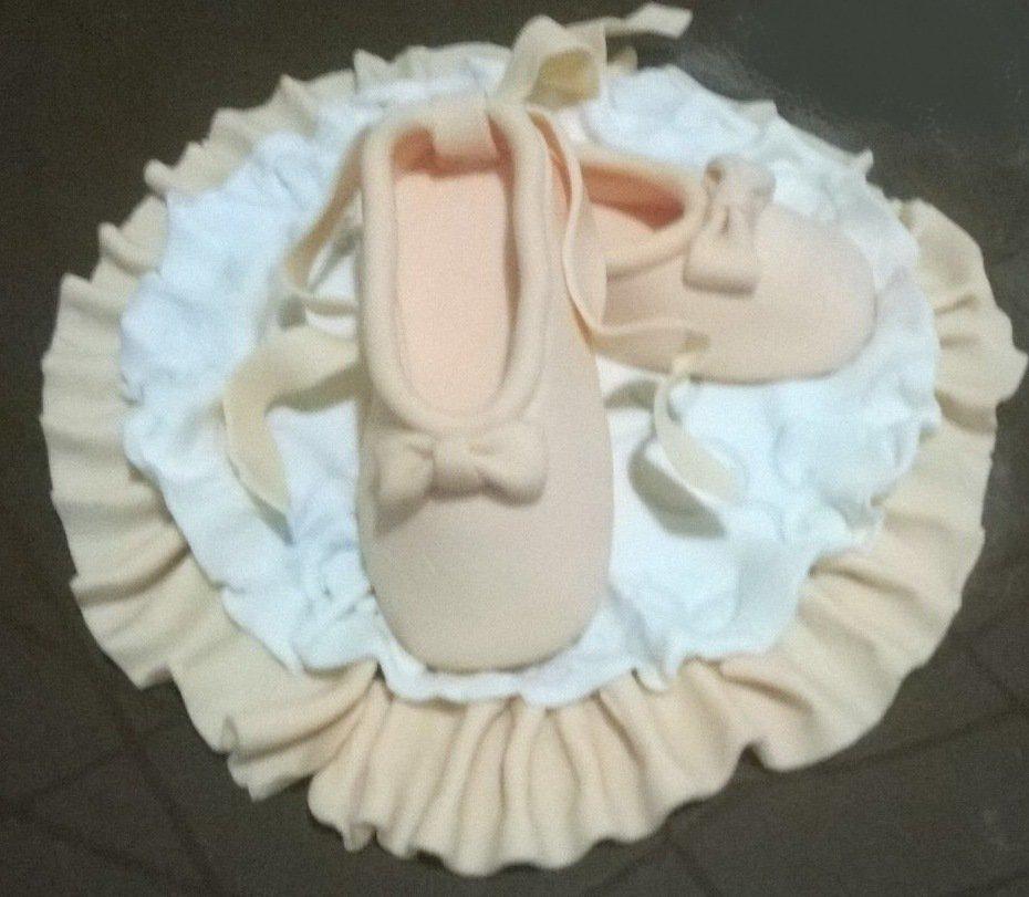 Scarpette danza classica in pasta di zucchero