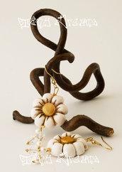 Orecchini Flower - T06 - Bianco/Oro