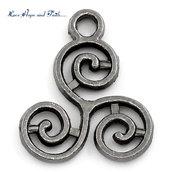 """Charm ciondolo """"Triskell celtico"""" (16x13mm) (cod.22307)"""