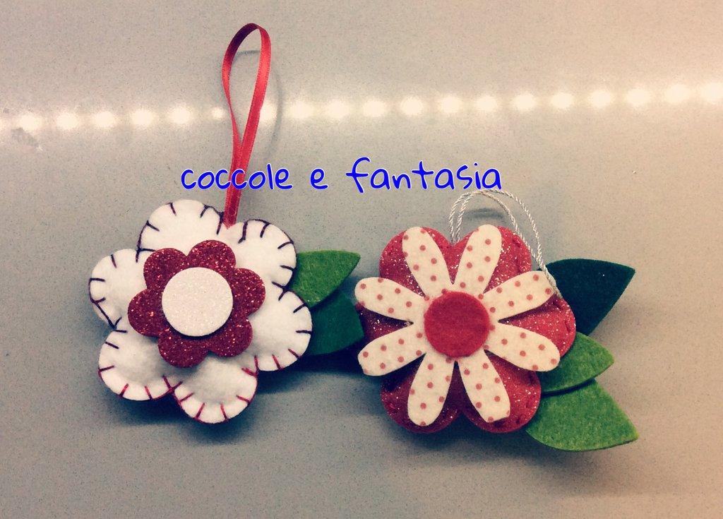 Favorito Decorazioni natalizie: fiori stelle di Natale in pannolenci - Fest  NF89
