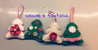 Decorazioni natalizie: alberelli di Natale in pannolenci