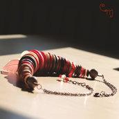 Collana corta con bottoni rossi - C.46.15 - Linea Canada